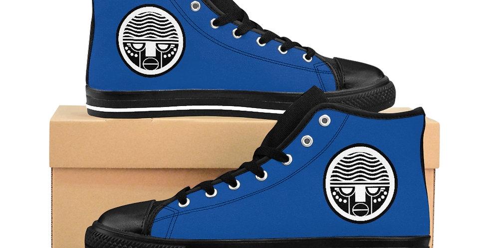 Blue Tzipora Art Women's High-top Sneakers