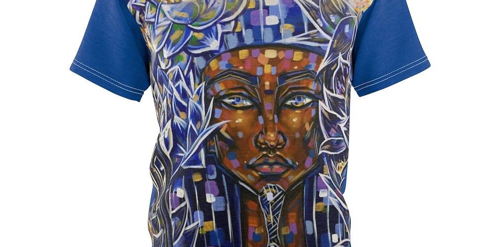 """Nefertem of the Blue Lotus"" Unisex AOP Cut & Sew Tee"