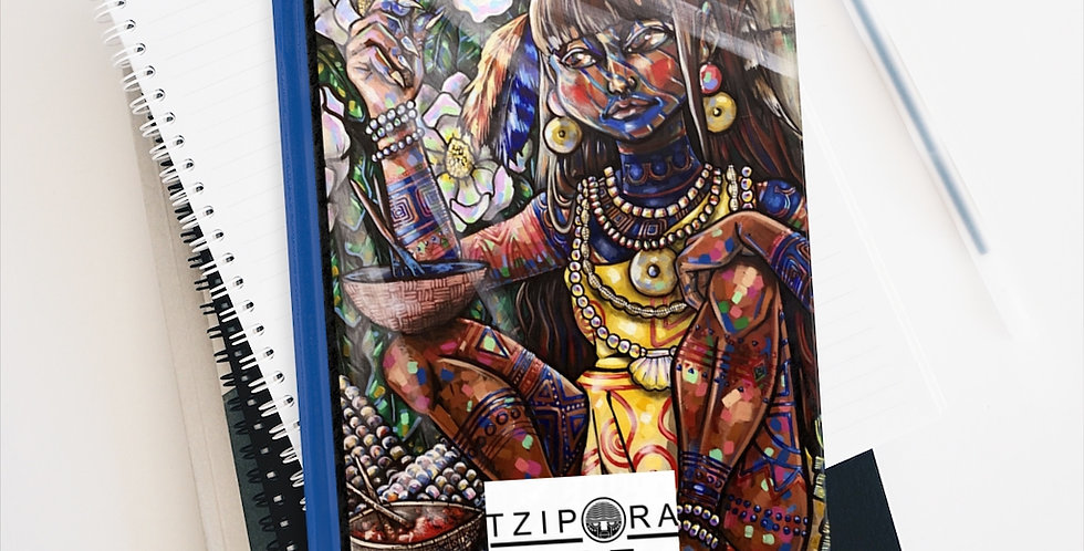 """Timucua Girl, Ela"" Premium Art Journal - Blank"
