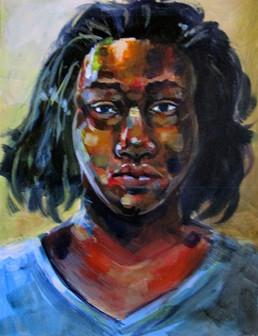 """Sketchbook Self-Portrait Study"""