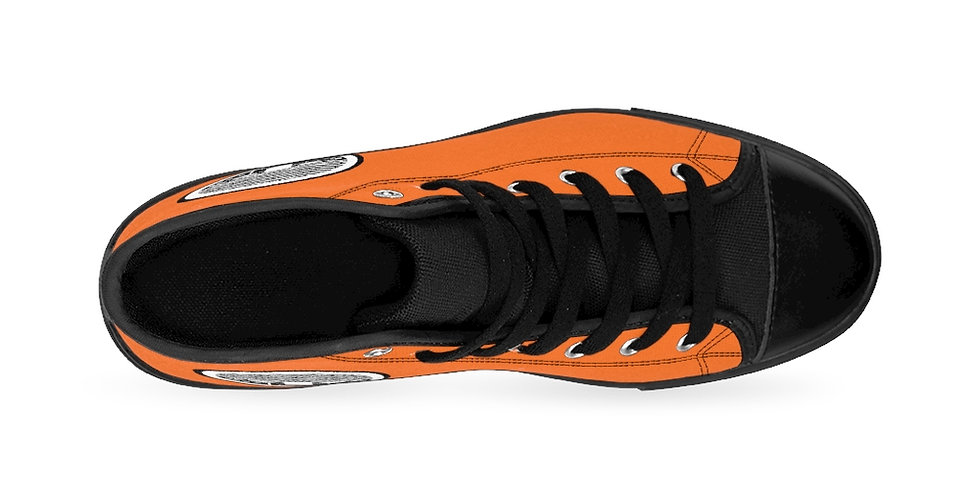 Orange Tzipora Art Women's High-top Sneakers