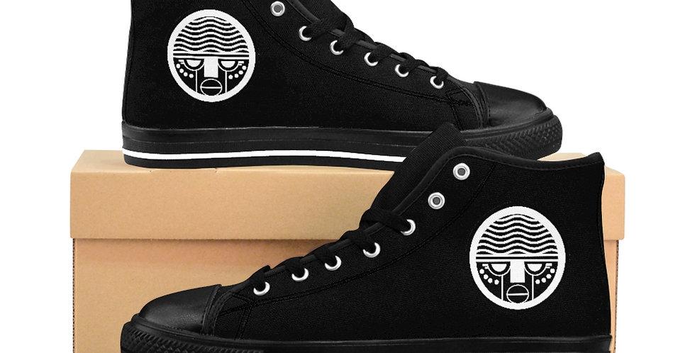 Black Tzipora Art Women's High-top Sneakers
