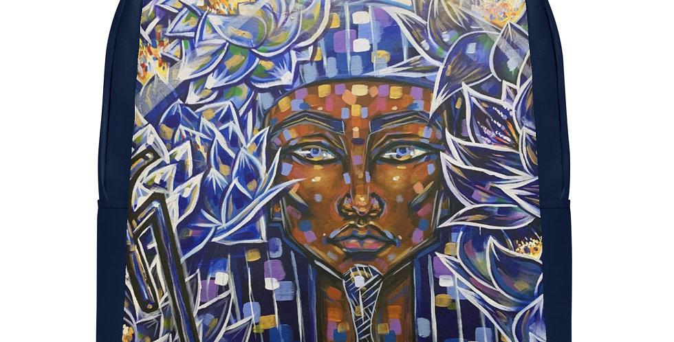 Tzipora Art | Nefertem of the Blue Lotus Minimalist Backpack