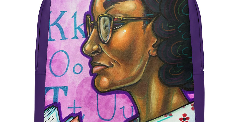 Tzipora Art | Pulitzer Prize Author, Gwendolyn Brooks Minimalist Backpack