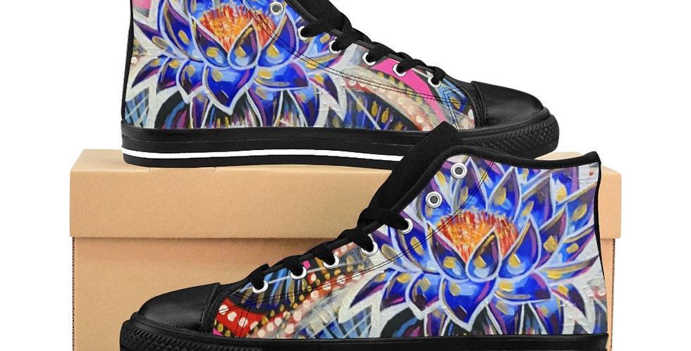 WAP Blue Lotus Crown Women's High-top Sneakers