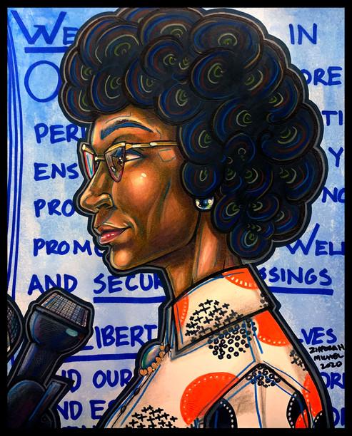 """American Politician, Shirley Anita Chisholm"""
