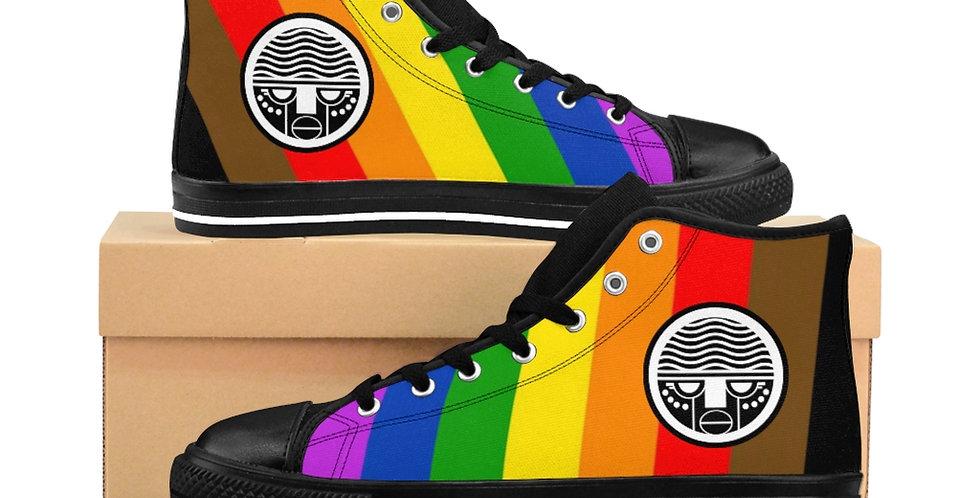 Rainbow Men's High-top Sneakers