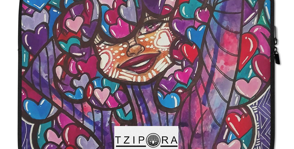 Tzipora Art | Love is in the Hair Laptop Sleeve