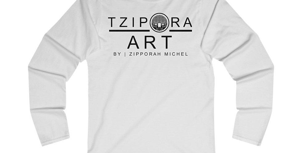 Tzipora Art Women's Fitted Long Sleeve Tee
