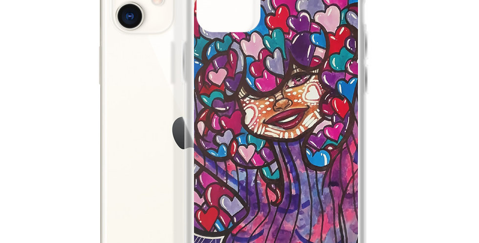 Tzipora Art | Love is in the Hair iPhone Case