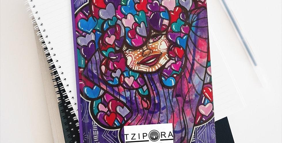 """Love Is In the Hair"" Premium Art Journal"