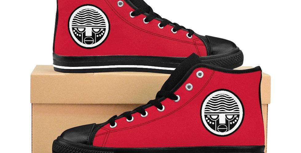 Red Tzipora Art Women's High-top Sneakers