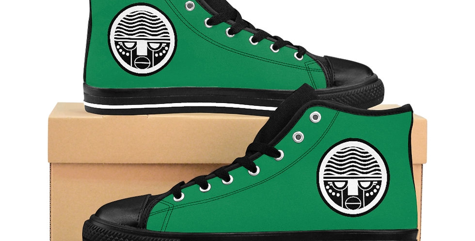 Green Tzipora Art Women's High-top Sneakers