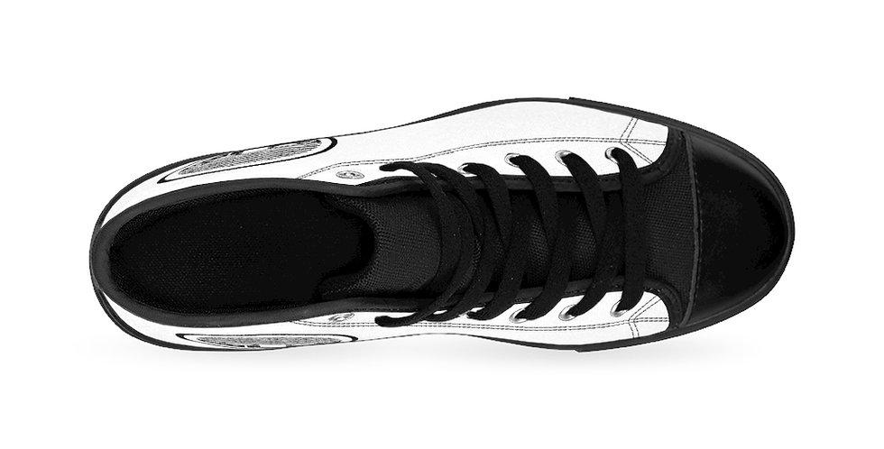 White Tzipora Art Women's High-top Sneakers
