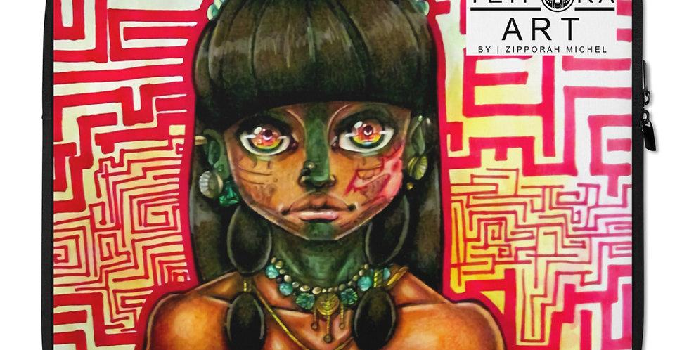 Tzipora Art | Mayan Girl, Itzel Laptop Sleeve