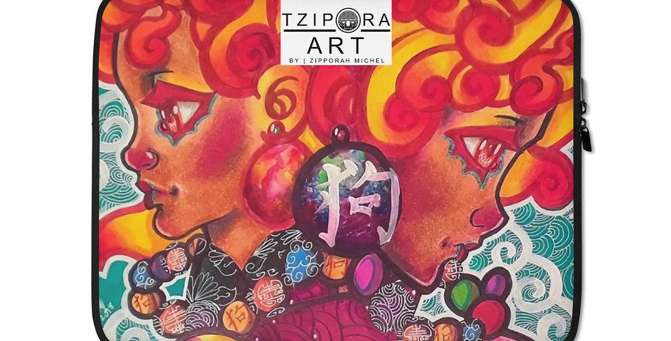 Tzipora Art | The Fu Lion Dogs Laptop Sleeve