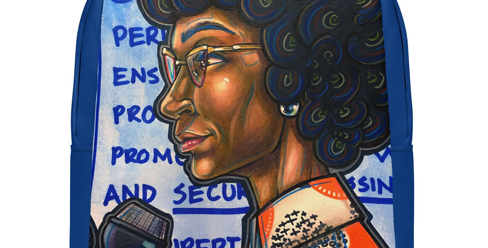 Tzipora Art | American Politician, Shirley Anita Chisholm Minimalist Backpack