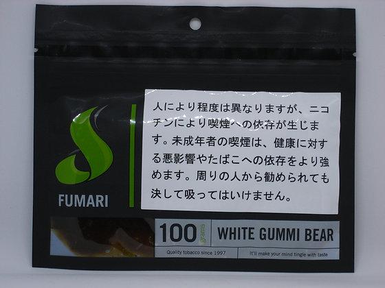 WHITE GUMMI BEAR 100g (FUMARI)