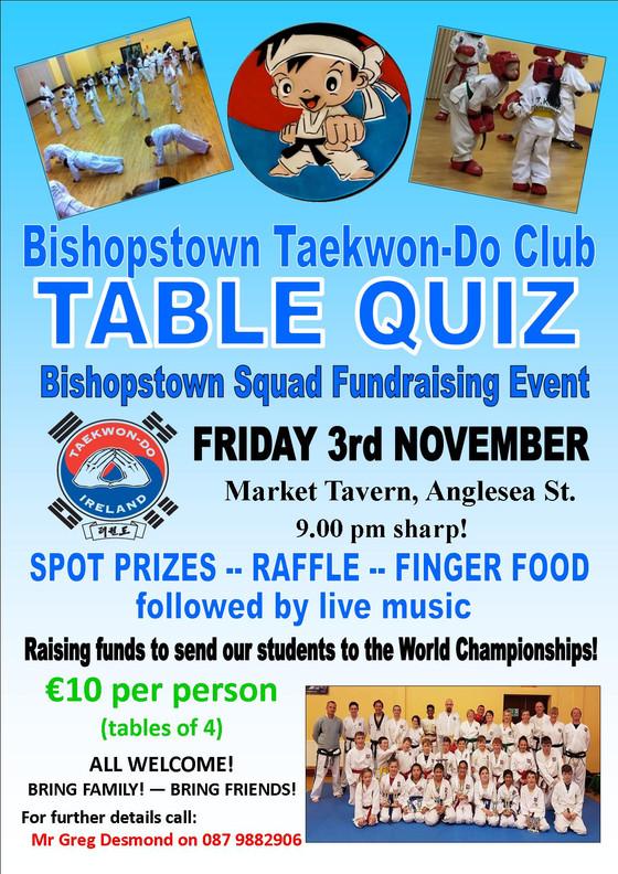 Table Quiz - Friday 3rd November