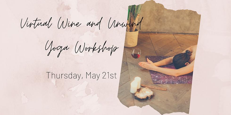Virtual Wine & Unwind Yoga