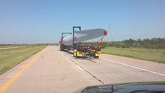 behind a blade trailer