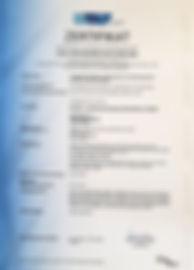 Zertifikat EN1090-1:2009+A1:2011