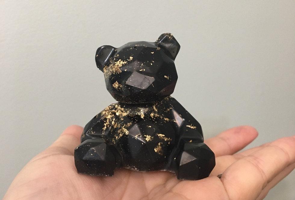 Black & Gold Geometric Bear