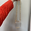 Thumbnail: Clear Mini Clutch with Chain/Bead Strap & Pearl Detail