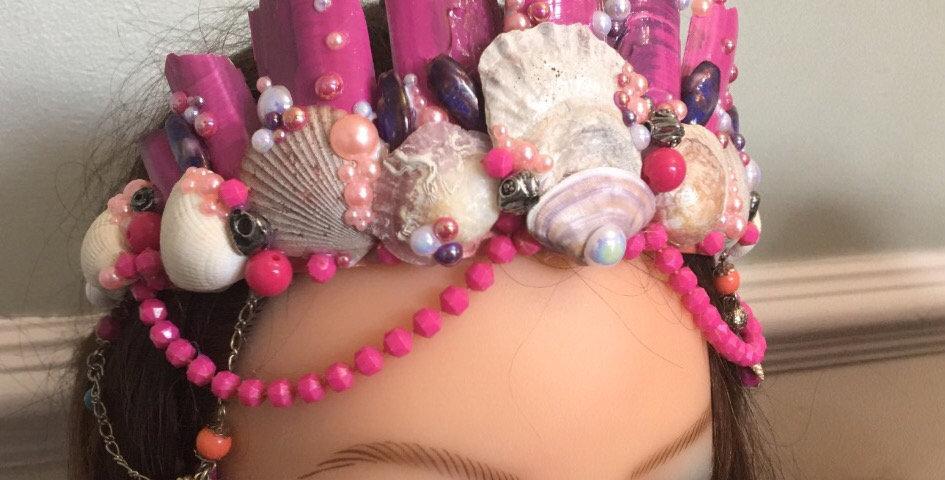 'Coral' Mermaid Crown