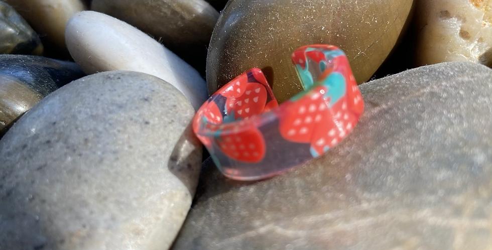 Strawberry Cuff Ring