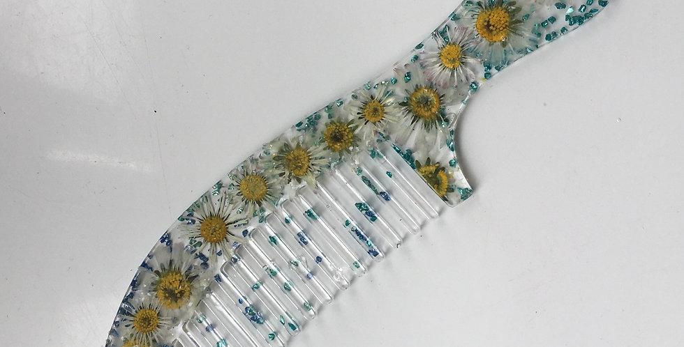 Daisy & Blue Mint Rock Comb