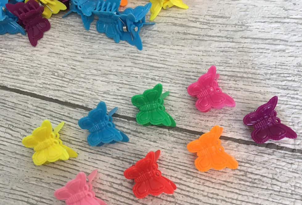 Set of 15 Butterfly Clips