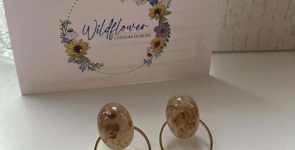 Oval Resin Ring Earring