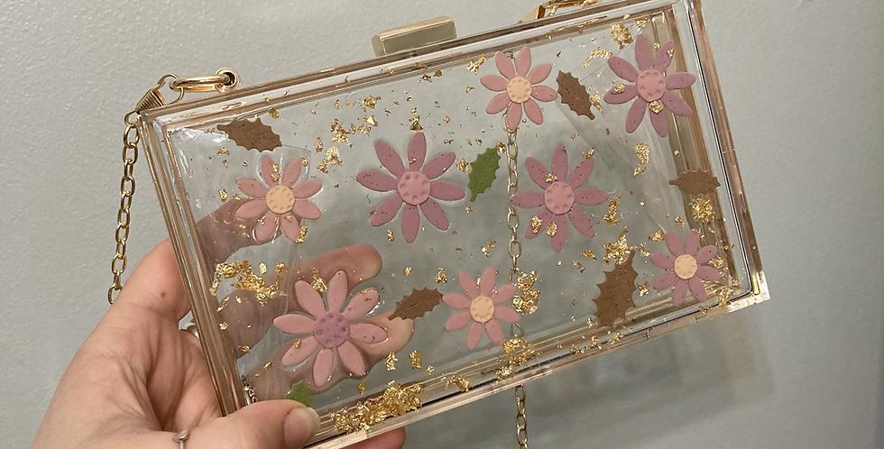Wildflower x Happy Clays Floral Gold Clutch