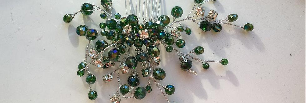 Emerald Crystal & Diamond Detail Slide