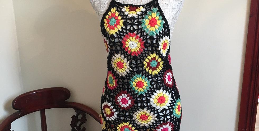Crochet Cross Back Dress