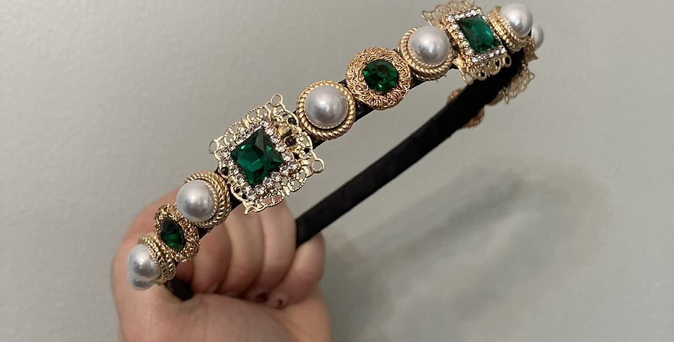'Emerald' Embellished Band