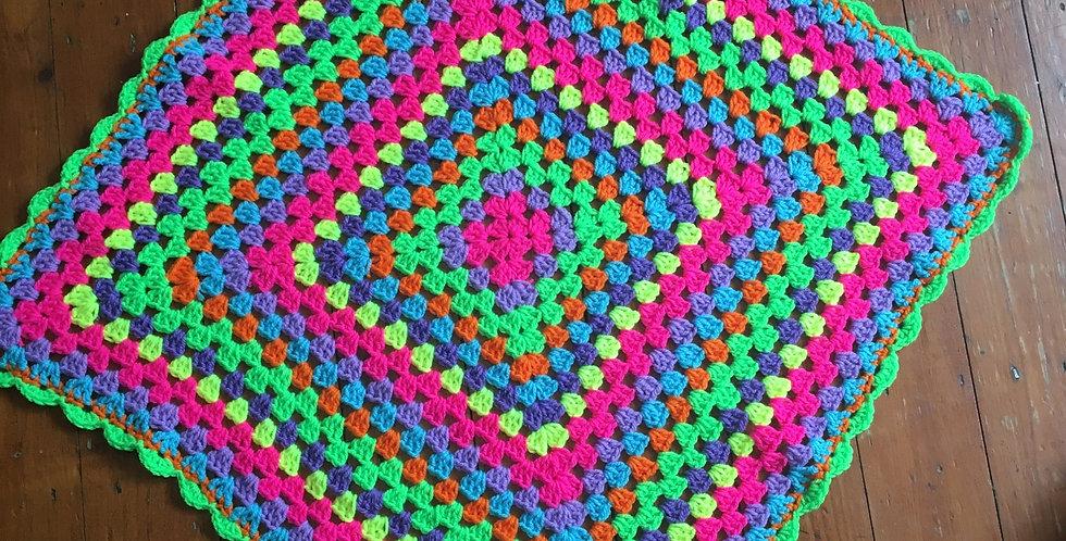 Neon Baby Crochet Blanket