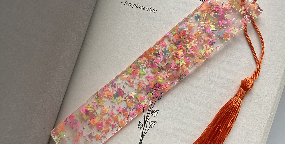 Neon Butterfly Bookmark