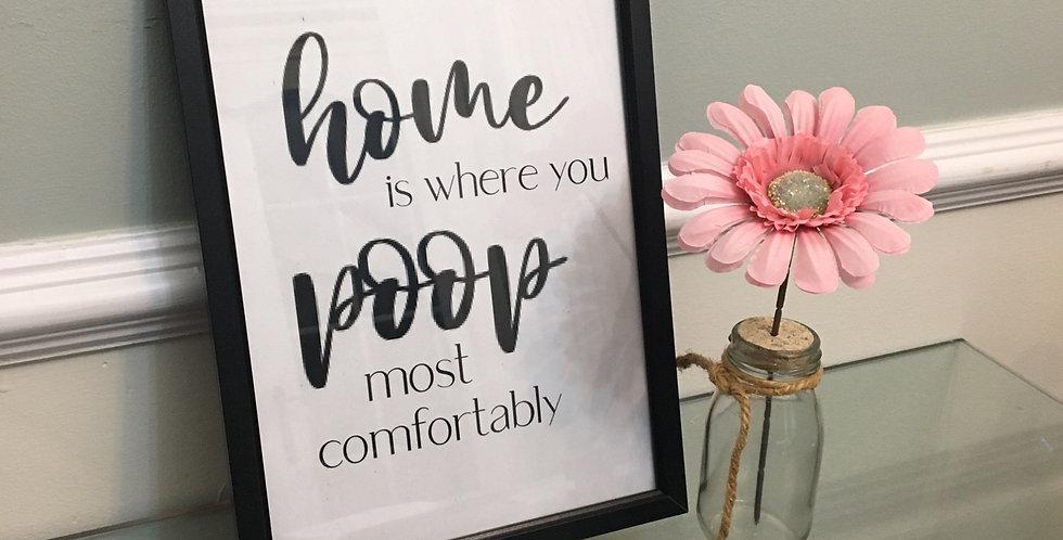 'Home' Bathroom A4 Print