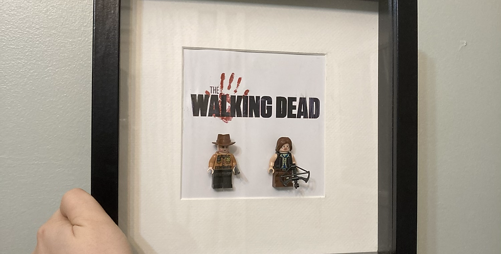 'The Walking Dead' Rick & Daryl Lego Frame