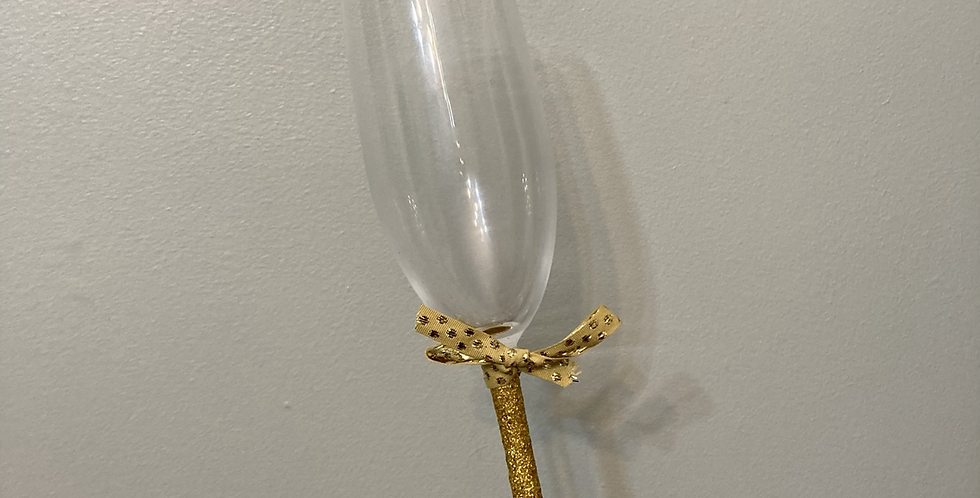 Gold Glitter Champagne Flute