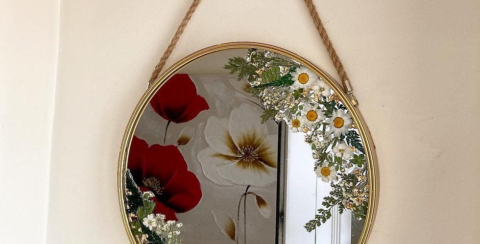 Dried & Pressed Floral Mirror