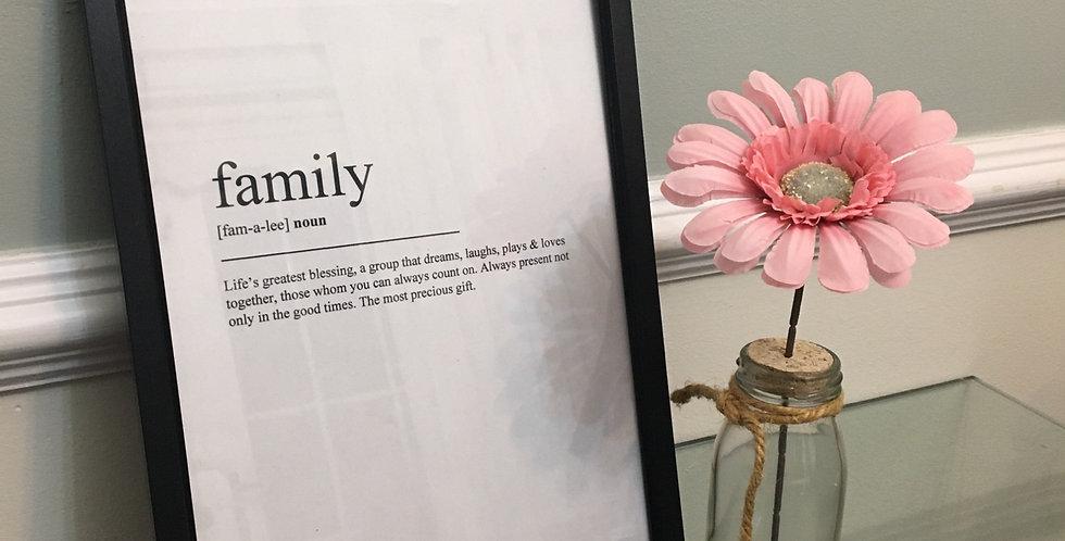 'Family' Defintion A4 Prim