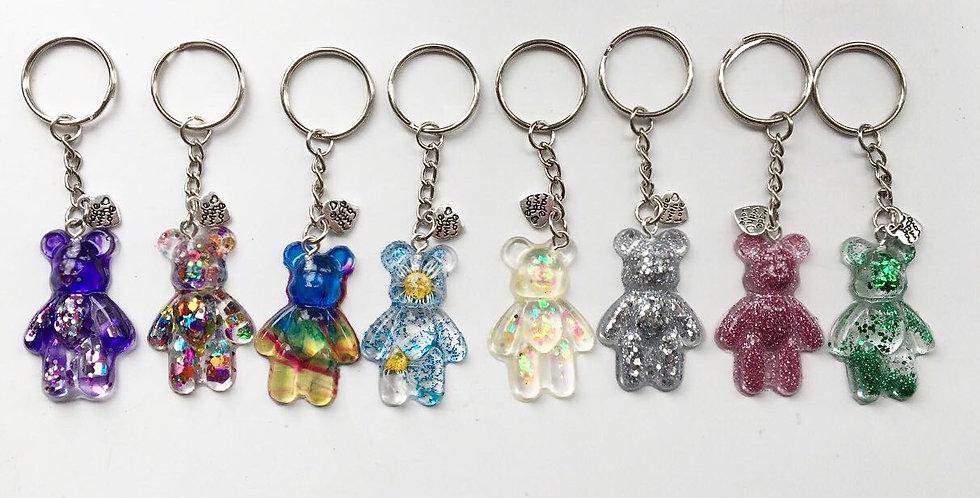 Glitter Bear Keyrings
