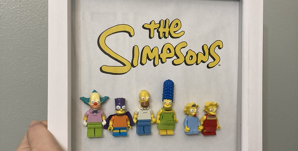 'The Simpsons' Lego Frame