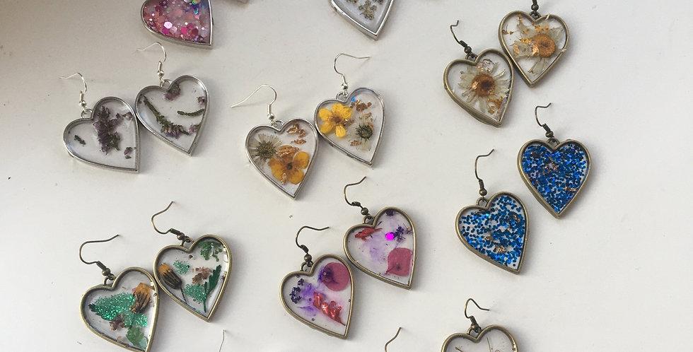Handmade Heart Drop Earrings