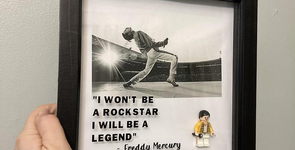 Freddie Mercury Lego Frame