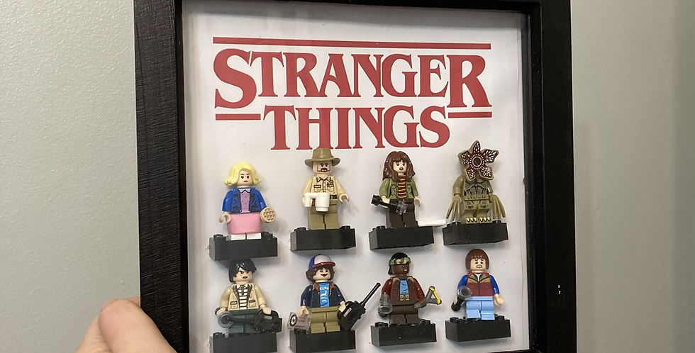 Stranger Things Lego Figure Frame