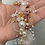 Thumbnail: Pearl Flower Gold Diamond Wire Band